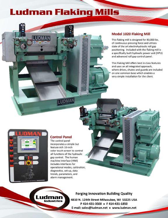 Ludman 1020 Flaking Mill